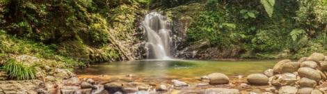 Ngu Ho Waterfall at Bach Ma National Park