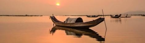 Sunset at Tam Giang Lagoon
